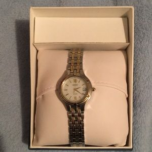 semi formal watch silver and gold